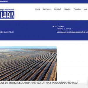 MAIOR PARQUE DE ENERGIA SOLAR DA AMÉRICA LATINA É INAUGURADO NO PIAUÍ