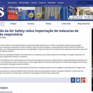 Produção da Air Safety reduz importação de máscaras de proteção respiratória