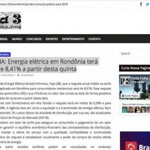 VERGONHA: Energia elétrica em Rondônia terá reajuste de 8,41% a partir desta quinta